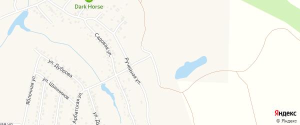 Абрикосовая улица на карте поселка Казенной Заимки с номерами домов