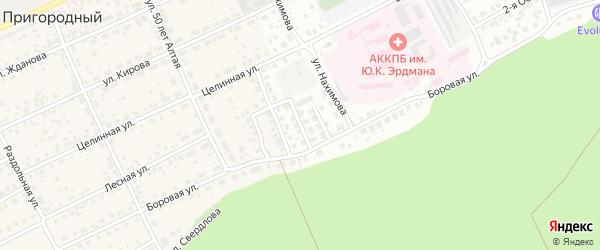 Пограничный 2-й проезд на карте Барнаула с номерами домов