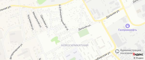Инициативный 6-й проезд на карте Барнаула с номерами домов