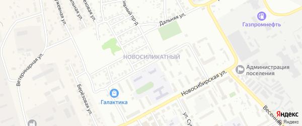 Инициативная улица на карте Барнаула с номерами домов