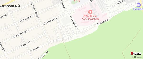 Пограничный 1-й проезд на карте Барнаула с номерами домов