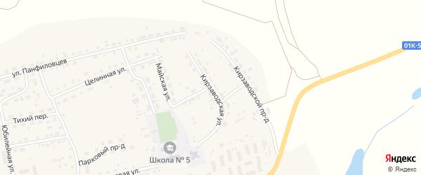 Кирзаводская улица на карте поселка Тальменки с номерами домов