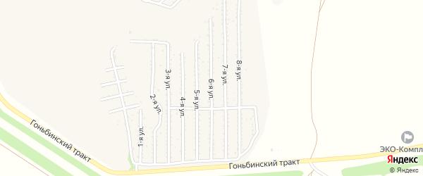 6-я улица на карте территории стд Дизеля с номерами домов