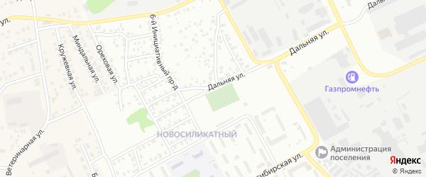 Инициативный 2-й проезд на карте Барнаула с номерами домов