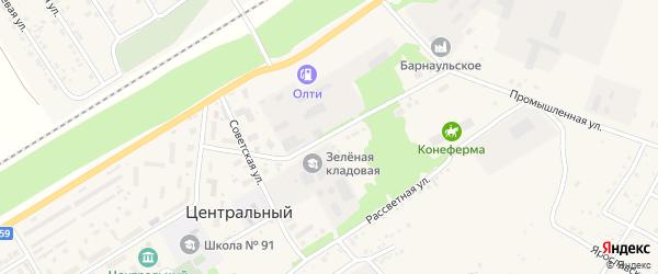 Промышленная улица на карте Центрального поселка с номерами домов