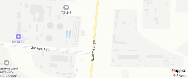 Трактовая улица на карте Барнаула с номерами домов