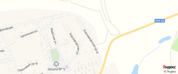 Кирзаводской проезд на карте поселка Тальменки с номерами домов