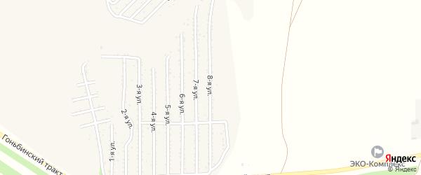 8-я улица на карте территории стд Дизеля с номерами домов