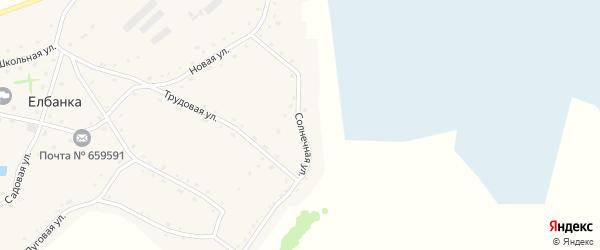 Солнечная улица на карте села Елбанки с номерами домов