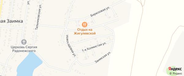 Холмистая 2-я улица на карте поселка Казенной Заимки с номерами домов
