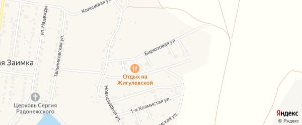 Тенистый 3-й переулок на карте поселка Казенной Заимки с номерами домов