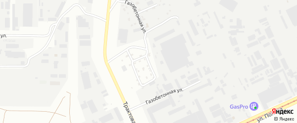 Газобетонная улица на карте Барнаула с номерами домов