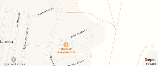 Бирюзовая улица на карте поселка Казенной Заимки с номерами домов
