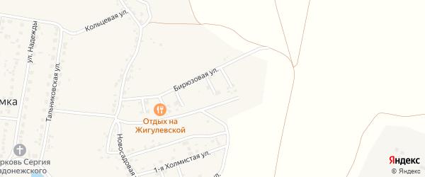 Тенистый 4-й переулок на карте поселка Казенной Заимки с номерами домов