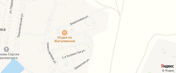 Тенистый 6-й переулок на карте поселка Казенной Заимки с номерами домов