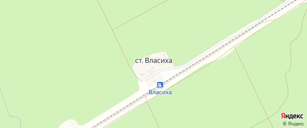 Станция Власиха на карте Барнаула с номерами домов