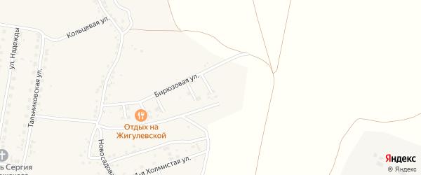 Тенистый 5-й переулок на карте поселка Казенной Заимки с номерами домов