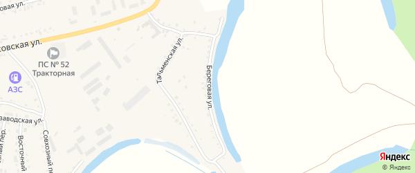 Береговая улица на карте поселка Тальменки с номерами домов