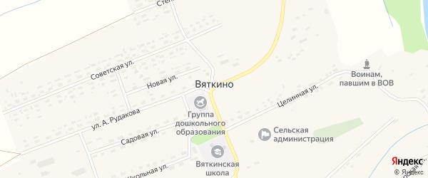 Заречная улица на карте села Вяткино с номерами домов