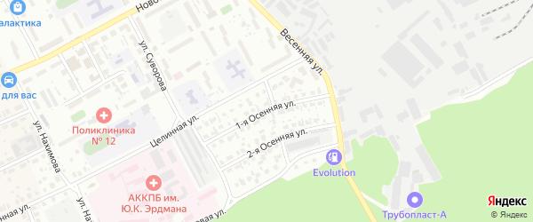 Осенняя 1-я улица на карте Барнаула с номерами домов