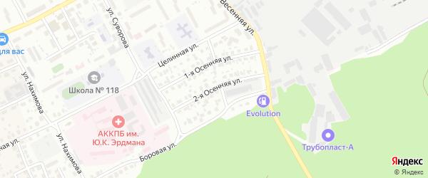 Осенняя 2-я улица на карте Барнаула с номерами домов