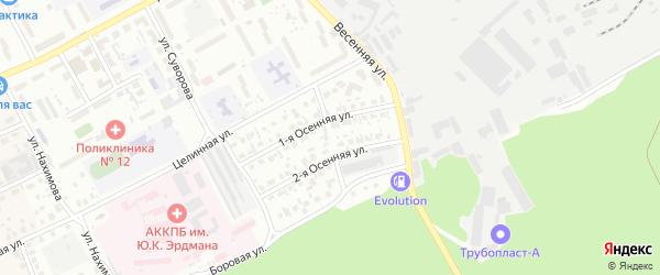 Небесный переулок на карте Барнаула с номерами домов