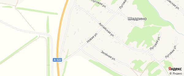 Новая улица на карте села Шадрино с номерами домов