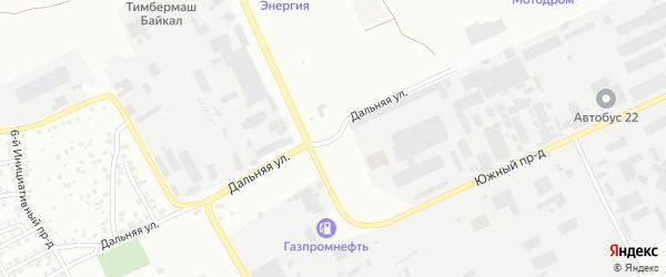 Дальняя улица на карте Барнаула с номерами домов