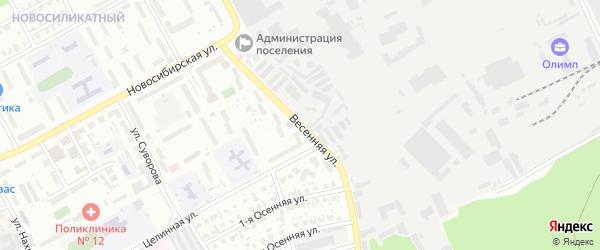 Весенняя улица на карте Барнаула с номерами домов