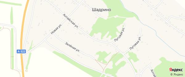 Алтайская улица на карте села Шадрино с номерами домов