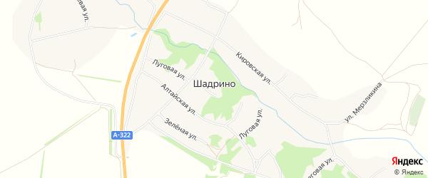 Карта села Шадрино в Алтайском крае с улицами и номерами домов