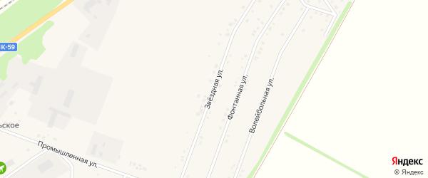 Звездная улица на карте Центрального поселка с номерами домов