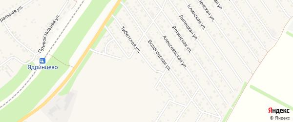 Вологодская улица на карте Центрального поселка с номерами домов