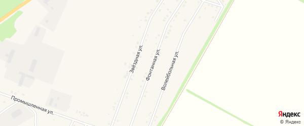 Фонтанная улица на карте Центрального поселка с номерами домов