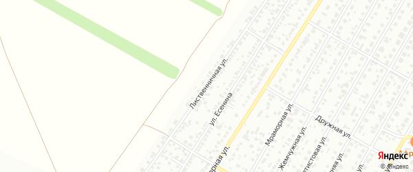 Лиственничная улица на карте Барнаула с номерами домов