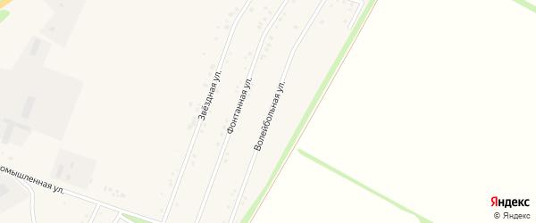 Волейбольная улица на карте Центрального поселка с номерами домов