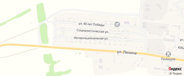 Интернациональная улица на карте села Усть-Чарышской Пристани с номерами домов