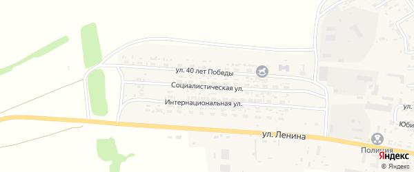 Социалистическая улица на карте села Усть-Чарышской Пристани с номерами домов