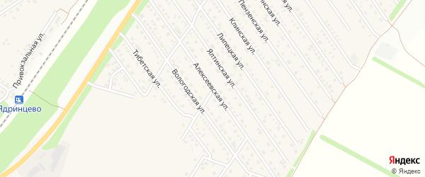 Алексеевская улица на карте Центрального поселка с номерами домов