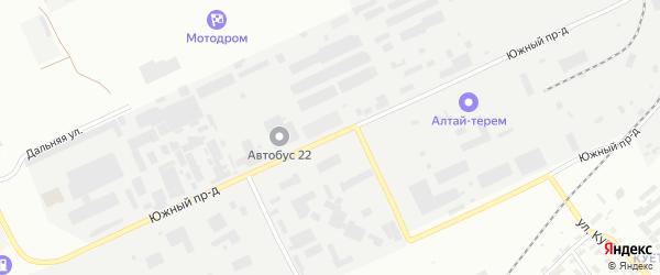 Южный проезд на карте Барнаула с номерами домов