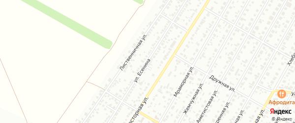 Улица Есенина на карте Барнаула с номерами домов