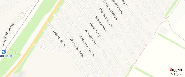 Ялтинская улица на карте Центрального поселка с номерами домов