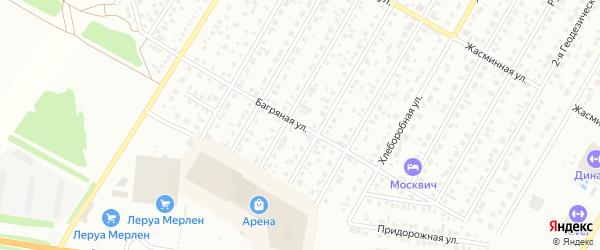 Багряная улица на карте Барнаула с номерами домов