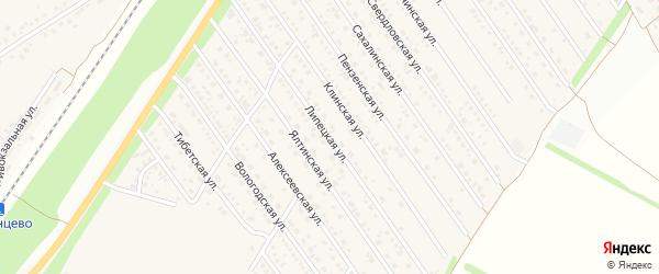 Липецкая улица на карте Центрального поселка с номерами домов
