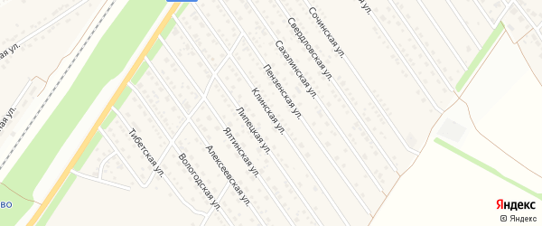 Клинская улица на карте Центрального поселка с номерами домов