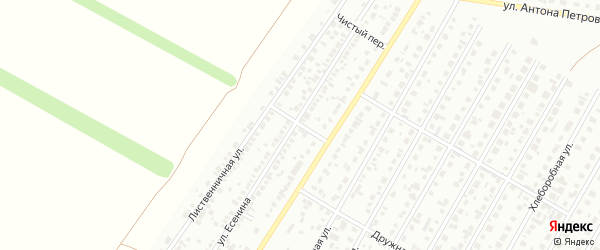 Вечерний переулок на карте Барнаула с номерами домов