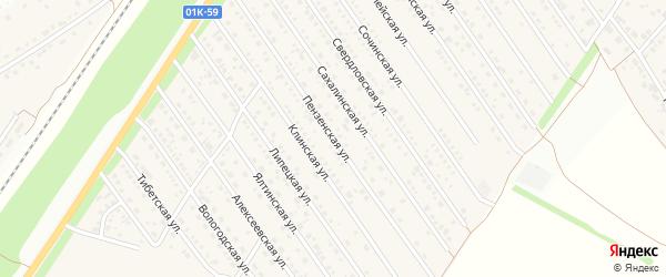 Пензенская улица на карте Центрального поселка с номерами домов