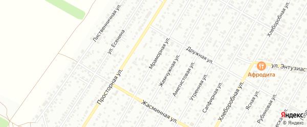 Мраморная улица на карте Барнаула с номерами домов