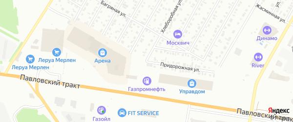 Придорожная улица на карте садового некоммерческого товарищества Медика с номерами домов