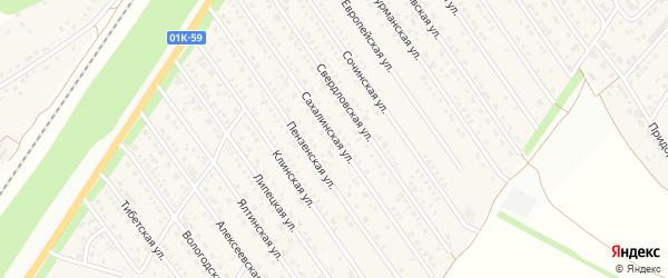 Сахалинская улица на карте Центрального поселка с номерами домов